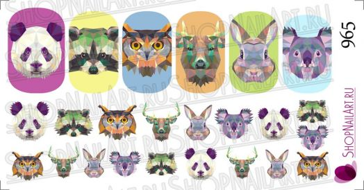 Слайдер дизайн 965 - Геометрия, Милые животные