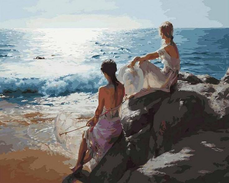 """У самого синего моря"" живопись на холсте 40*50см"