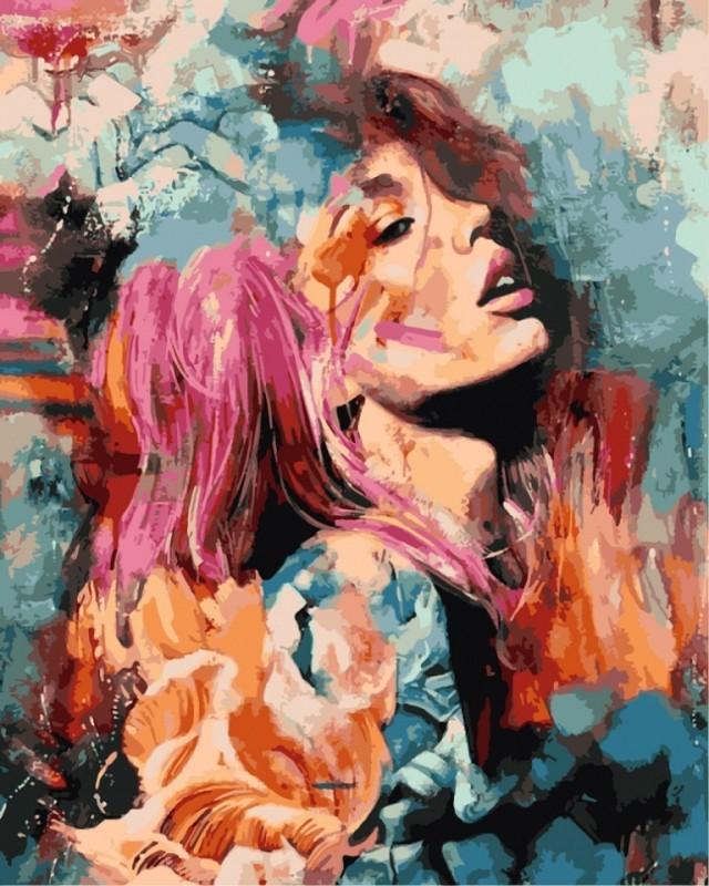 """""""Розовый цветок"""" живопись на холсте 40х50см"""