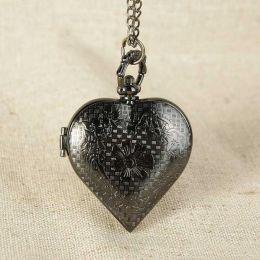 Карманные часы Сердце с цепочкой, в подарочной коробке