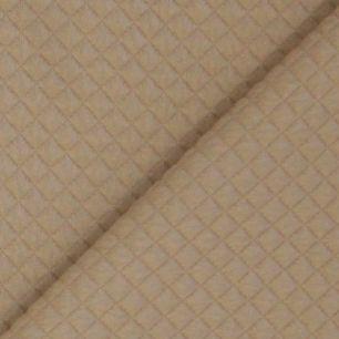 Лоскут трикотажной ткани Стеганый Молочный шоколад 50*30