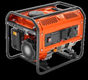 Генератор Husqvarna G1300P (Двигатель Husqvarna, 98.5cм3, ручной запуск, 1 кВт(макс.), 230В, 50Гц, 1 фаза, преобразователь 12В)