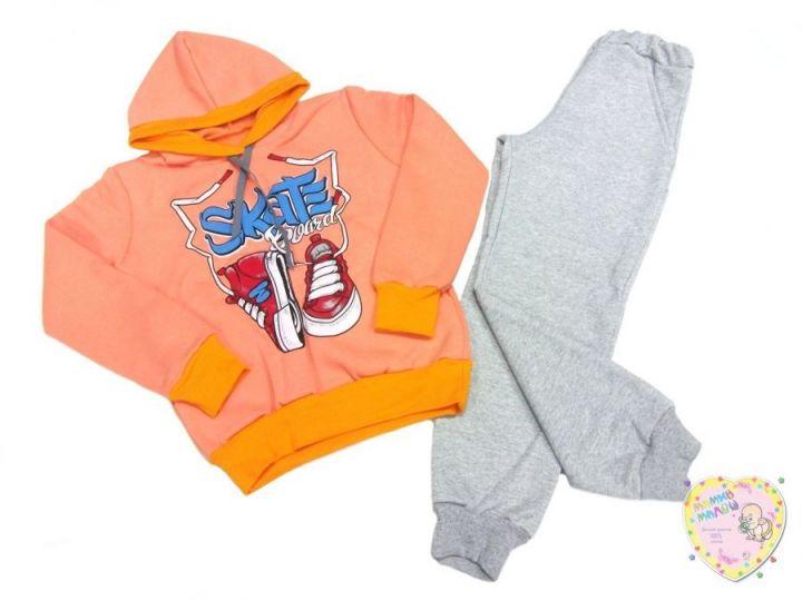 Костюм: толстовка с капюшоном, штаны с карманами dB-KS073(k)-TRn-O (3-х нитка-начес)