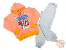 Костюм: толстовка с капюшоном оранжевая, штаны dB-KS073(k)-TRn-O (код 01705 ) МАМИН МАЛЫШ OPTMM.RU