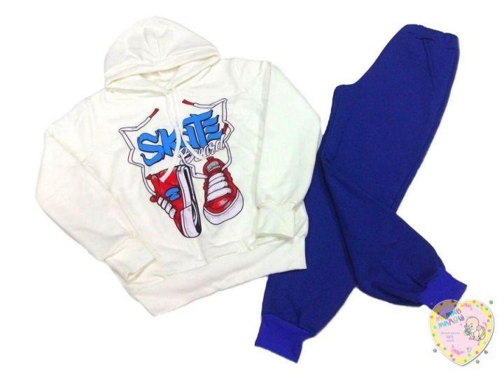 Костюм: толстовка с капюшоном, штаны с карманами dB-KS073(k)-TRn-B (3-х нитка-начес)