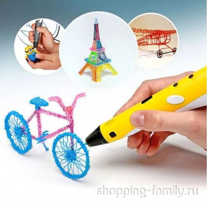 3D ручка c LCD дисплеем (3D Pen-2), цвет Желтый