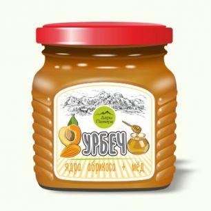 """""""Дары Памира"""" Урбеч сладкий, Абримед (абрикосовые косточки с медом), 230гр"""