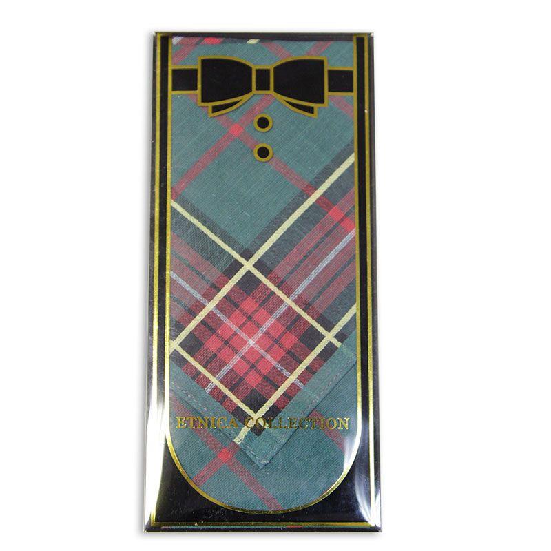 Мужской носовой платок в подарочной коробке Пд2-02д 100% х/б