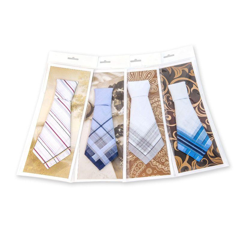 Подарочный мужской носовой платок Пс05л 100% х/б