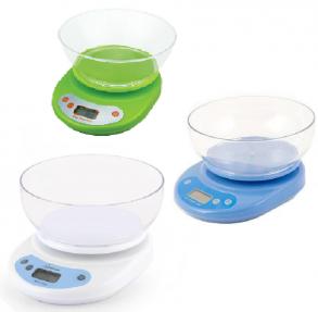 Электронные кухонные весы с чашей, 5 кг