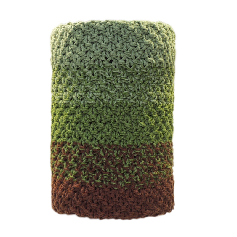"Вязаный шарф-труба ""Green-olive"""