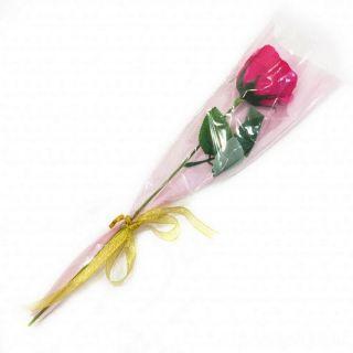 Роза из парфюмированного мыла Soap Flower, 39 см, Цвет розы: Тёмно-розовый