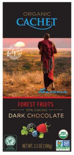 "Шоколад ""Cachet"" Dark Chocolate With Forest Fruits Tanzania, 57% Cocoa, 100 г"