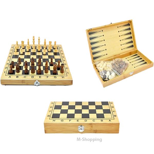 Настольная Игра 3 В 1 Шахматы, Шашки, Нарды