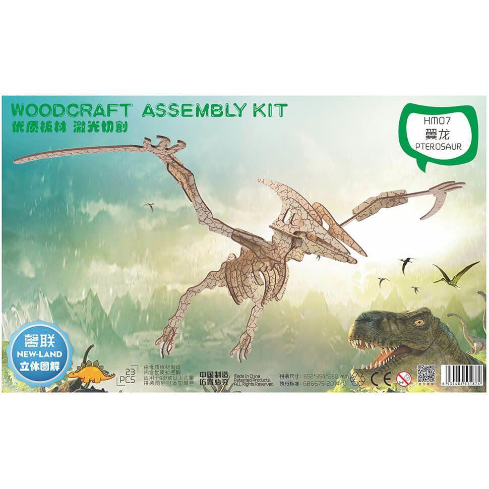 Птерозавр деревянный 3D пазл
