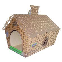 Картонный игровой домик для кошек