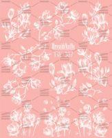 Слайдер-дизайн «Белые цветы» TW - 367 Dream Nails (водные наклейки)