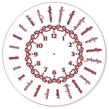 Трафарет для часов, ЭЛГ30-10, d=30 см