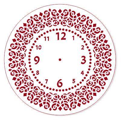 Трафарет для часов, ЭЛГ25-30, d=25 см