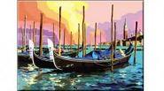"""Раскраска по номерам """"Венецианские гандолы"""", А3 (арт. Р-5490)"""