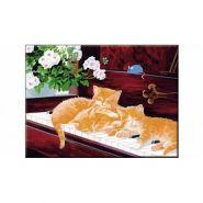 """Раскраска по номерам """"Рыжие котята"""", А3 (арт. Р-5501)"""