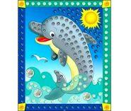 "Мозаика из пайеток ""Дельфин"", А4 (арт. М-4354)"
