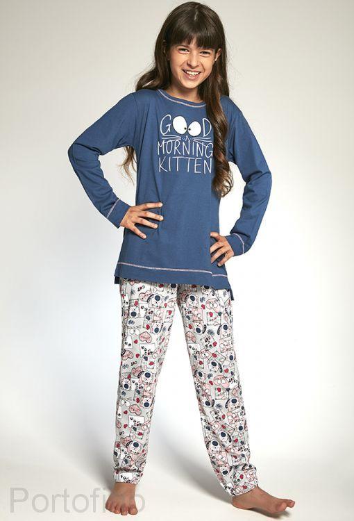 103-89 Пижама для девочек длинный рукав Cornette