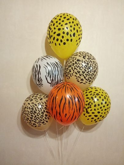 Сафари (джунгли) латексные шары с гелием