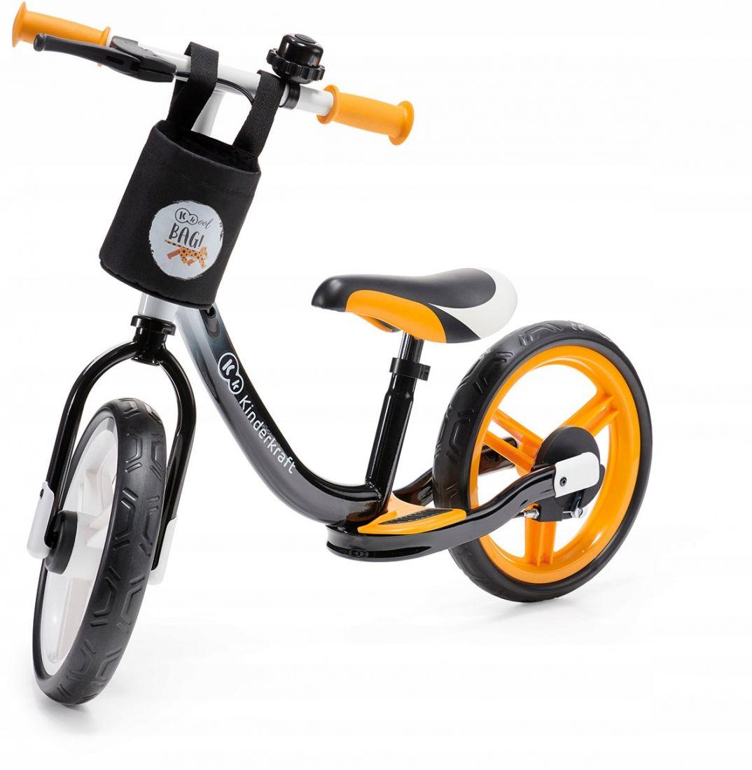 Велосипед беговой с тормозом и аксессуарами SPACE Kinderkraft желтый