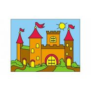 """Раскраска блёстками """"Замок"""", А5 (арт. Р-4375)"""