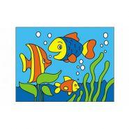 """Раскраска блёстками """"Рыбки"""", А5 (арт. Р-4374)"""