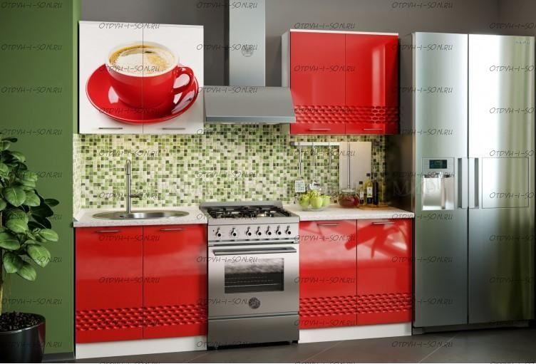 Кухня Волна, 1600 фотопечать металлик