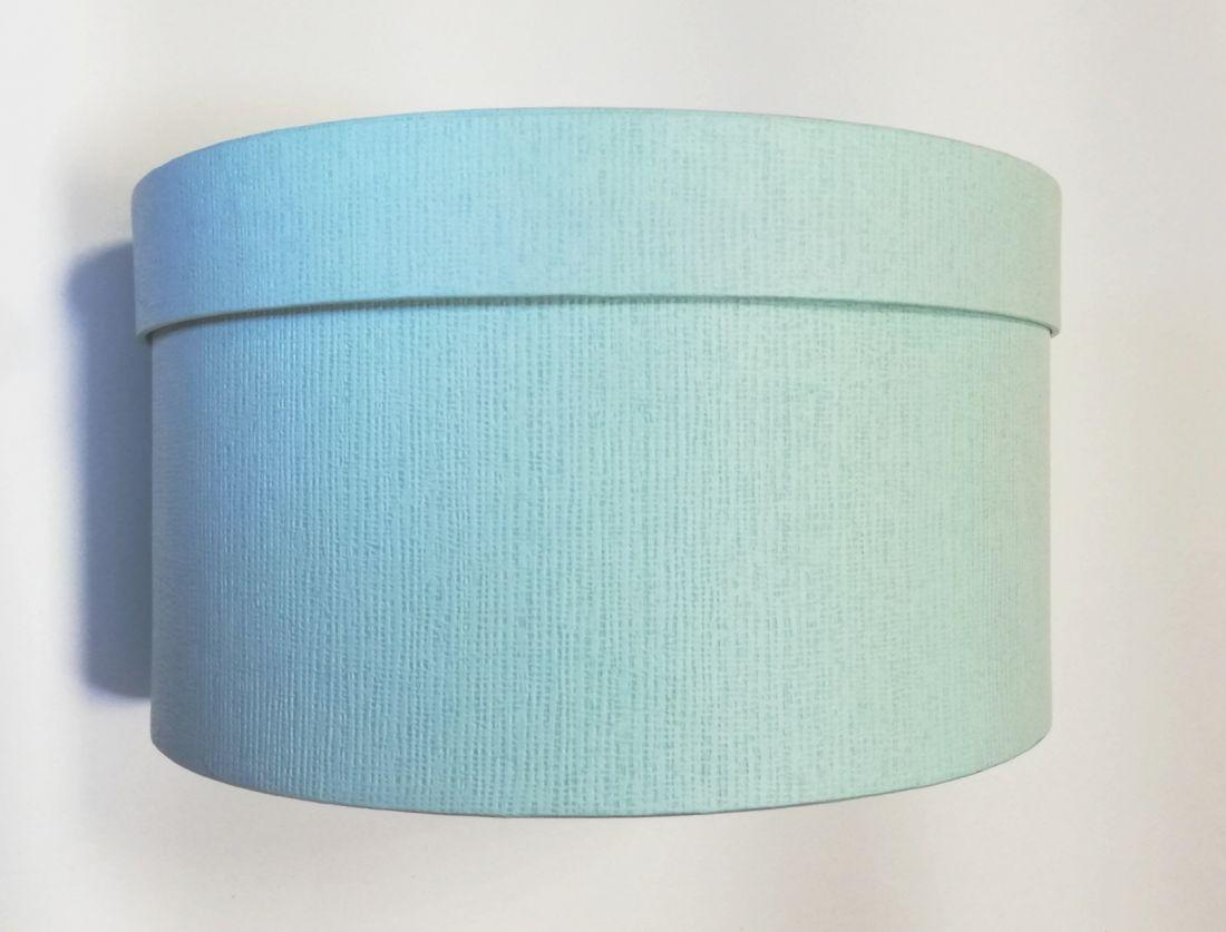 Коробка круглая бирюзовая