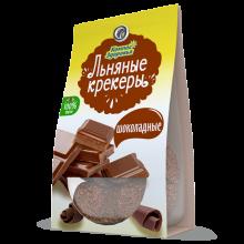 Крекеры льняные с ШОКОЛАДНЫМИ КАПЛЯМИ, 50 г