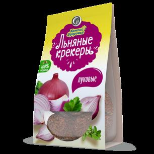 Крекеры льняные с ЛУКОМ, 50 г