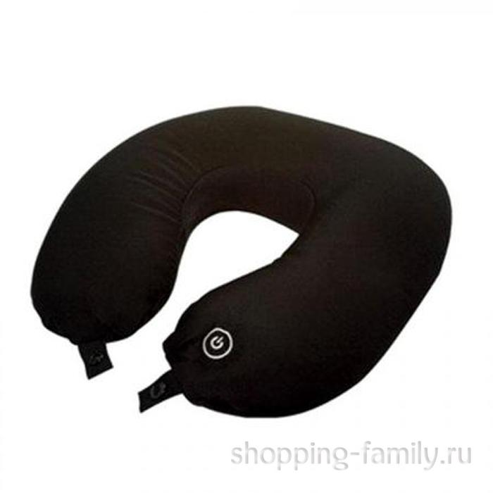 Массажная подушка-подголовник Neck Massage Cushion, черная
