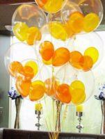 Гелиевые шары  баблс с шариками внутри