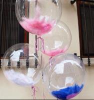 Воздушные шары Bubbles с перьями 46 см