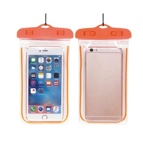 Водонепроницаемый чехол-пакет для телефона, цвет оранжевый