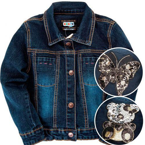 Джинсовый курточка для девочек 2-6 лет Bonito OR759P