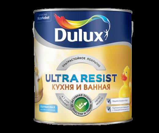 Dulux Ultra Resist Кухня и ванная ультрастойкая краска для влажных помещений полуматовая