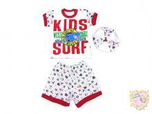 Костюм: берет, футболка, шорты kA-KS469(2)-SUk (супрем)