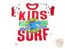 Футболка очень крутая и яркая с большой спереди аппликацией (kids surf Malibu детский серфинг)