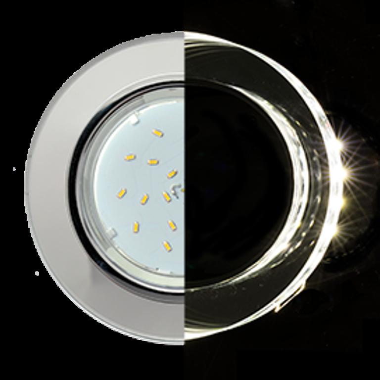 Встраиваемый светильник Ecola SM53RNECH