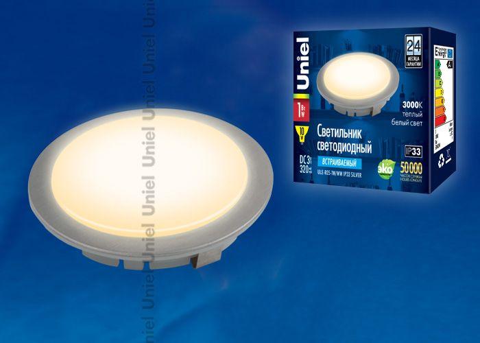 Встраиваемый светильник Uniel ULE-R05-1W/WW