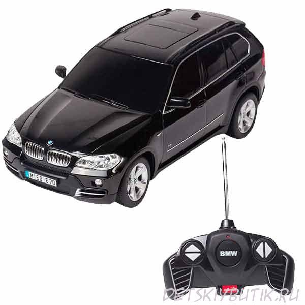 Машинка радиоуправляемая BMW X5, цвет черный, 1:18