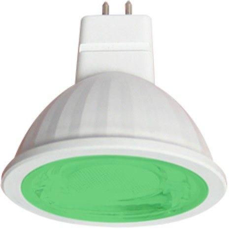 Светодиодная лампа Ecola MR16 GU5.3 220V 9W Зеленый прозр.  47x50 M2CG90ELT