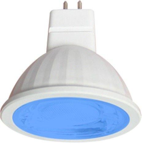 Светодиодная лампа Ecola MR16 GU5.3 220V 9W Синий прозр.  47x50 M2CB90ELY