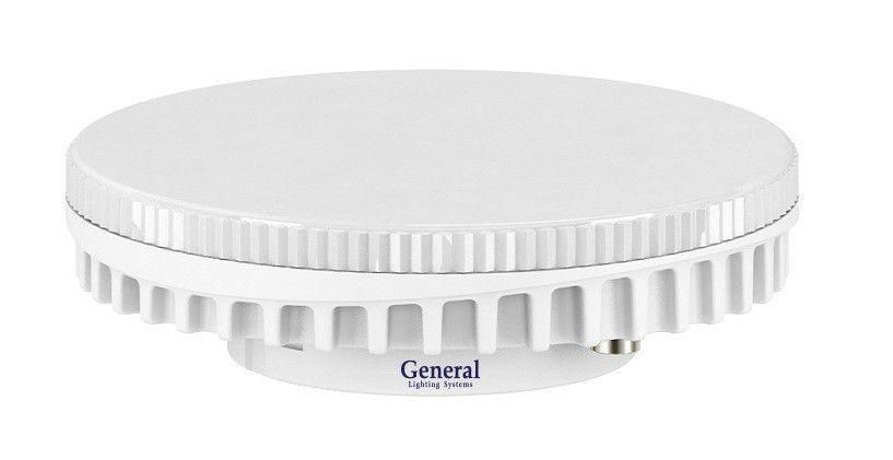 Светодиодная лампа General GX53 св/д 7W 6500K 6K 75x26.5 рифл. стекло пластик 642600