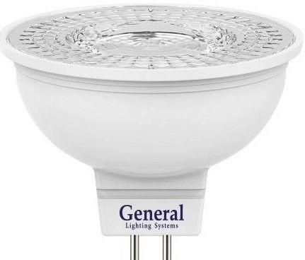 Светодиодная лампа General MR16 GU5.3 7W 4500K 4K 50x50 пластик/алюм с рефлект. 110° 643500